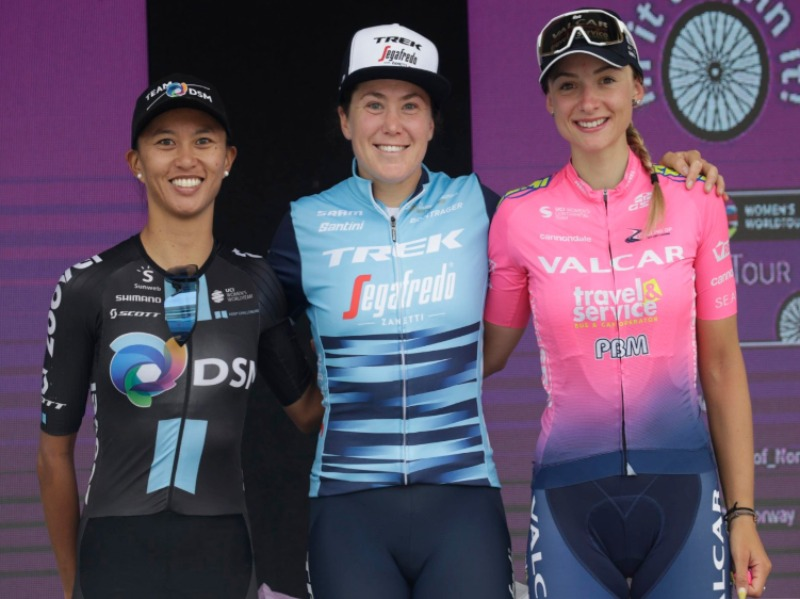 World Tour Femminile: Chiara Consonni è terza nell'ultima tappa del Ladies Tour of Norway.