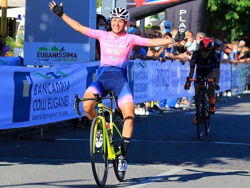 Valcar-Travel & Service: Silvia Persico vince l'Euganissima Flanders, terza Sanguineti. Nelle dieci anche Gasparrini e Magri