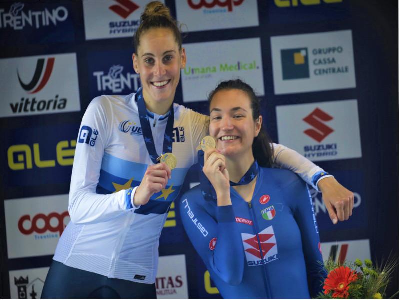 Vittoria Guazzini è campionessa europea nella cronometro U23. Bronzo per Elena Pirrone