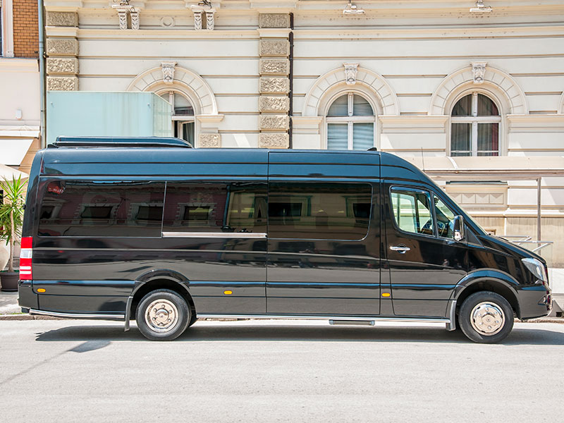 Noleggio minibus 14-20 posti nero Travel And Service